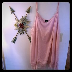 Torrid chiffon lace bottom camisole size 4